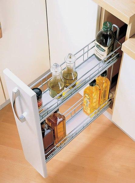 Выдвижные узкие ящики для кухни