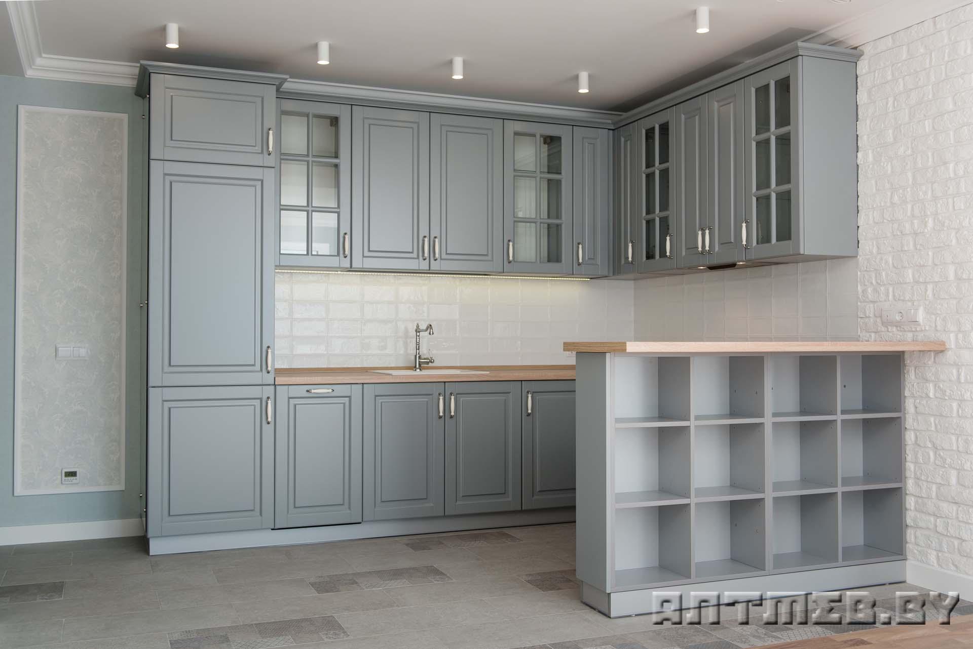 Нестандартные угловые кухни под заказ в Минске от компании AntMeb